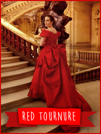 Tournure de bal Rouge